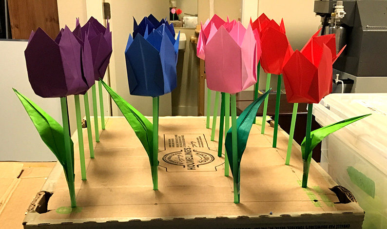 TAIWANfest Exhibition - The Paper Play Origami Tulip Garden